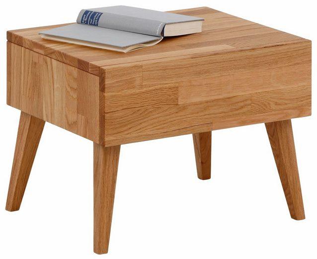 Home affaire Nachttisch »Natali«, mit einer Schublade, aus massiver Eiche, Breite 45 cm