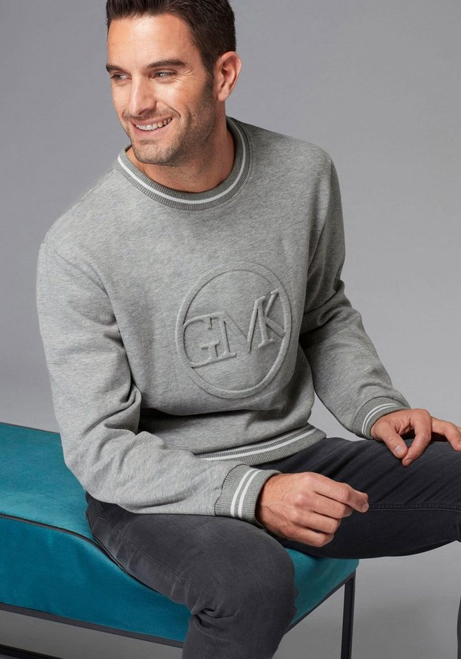 guido maria kretschmer sweatshirt gmk logo in 3d optik online kaufen otto. Black Bedroom Furniture Sets. Home Design Ideas