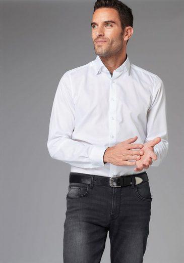 GUIDO MARIA KRETSCHMER Businesshemd Kontrastbesatz im Kragen, Knopfleiste und Manschetten