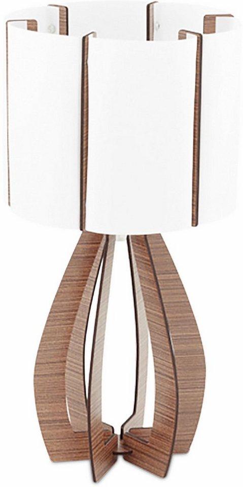 eglo tischleuchte cossano 1 flammig mit leuchtenschirm in zylinderform online kaufen otto. Black Bedroom Furniture Sets. Home Design Ideas