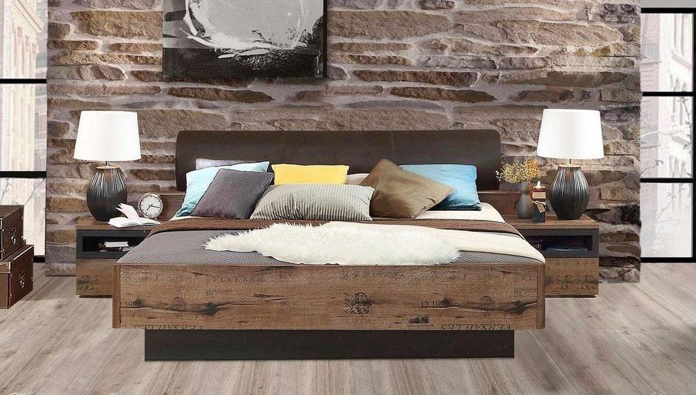 FORTE Bett Jacky mit Polsterkopfteil wahlweise mit oder ohne Bettbank    05904767857400