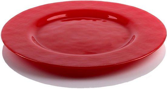 BOHEMIA SELECTION Teller »Play of Colors«, (2 Stück), Glas