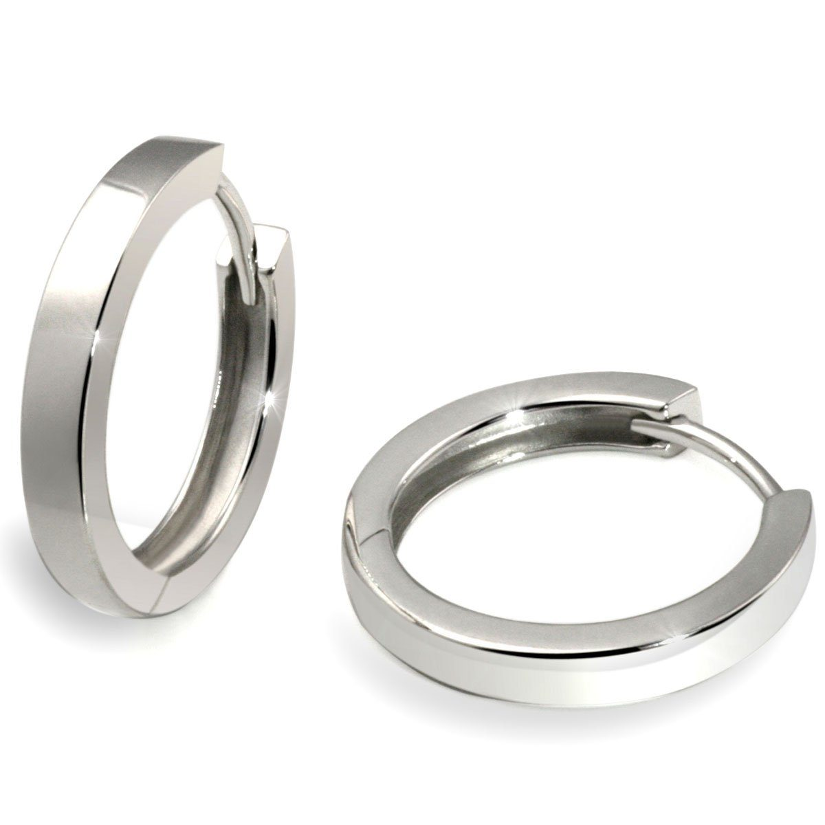 goldmaid Paar Creolen Silber 925/- mit Klappverschluss