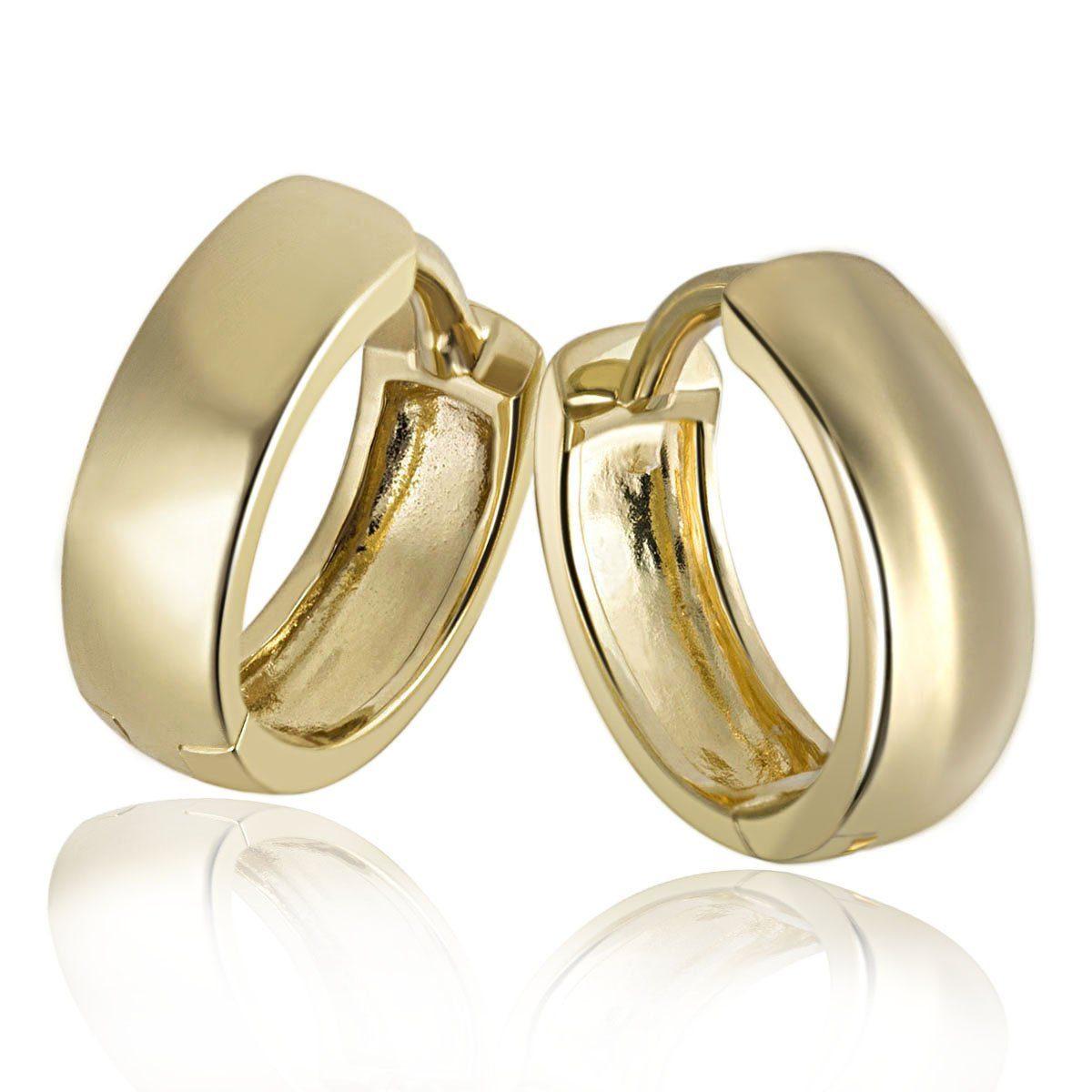 goldmaid Paar Creolen Daily 375/- Gelbgold