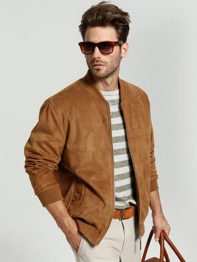 Babista Suede Blouson With A Fashionable Perforation