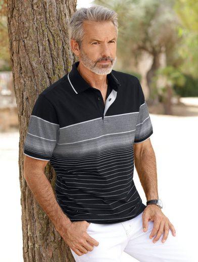 Babista Poloshirt mit garngefärbtem Verlaufsmuster