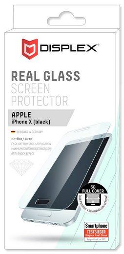 Displex Displayschutzglas »Vollflächiges Displayschutzglas für Apple iPhone X«