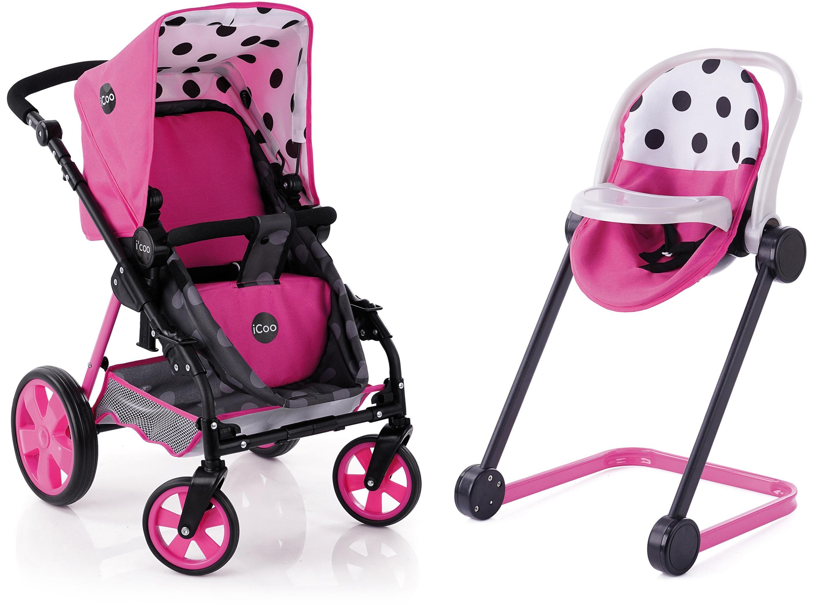hauck TOYS FOR KIDS Puppenwagen, »iCoo Grow with me, Pink«