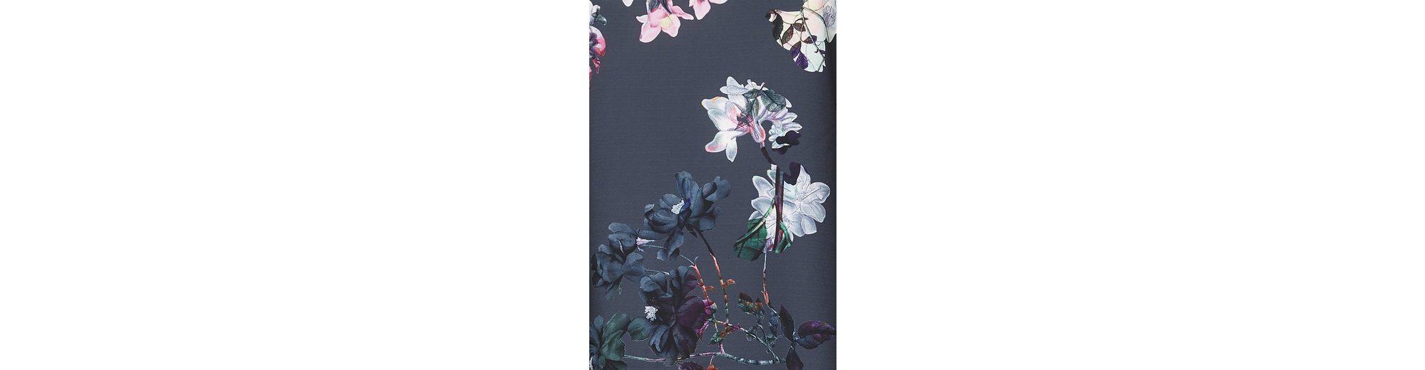Yumi Rundhalspullover Mae, floraler Einsatz auf der Vorderseite