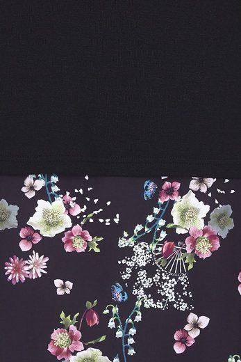 Yumi Tunikakleid Liyana, mit floralem Unterteil