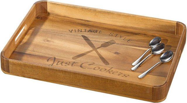 Esmeyer Tablett »Seattle«, Holz, (Akazie)
