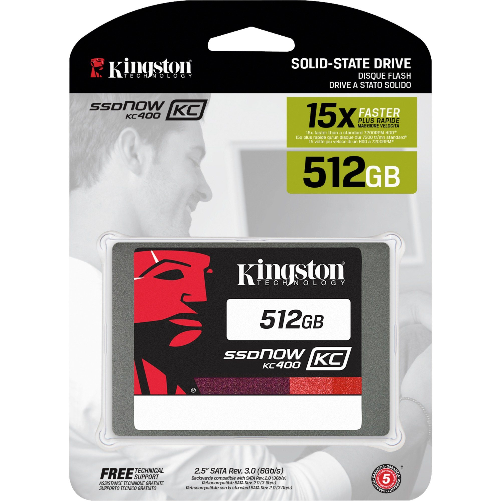 Kingston Solid State Drive »SKC400S37/512G 512 GB«