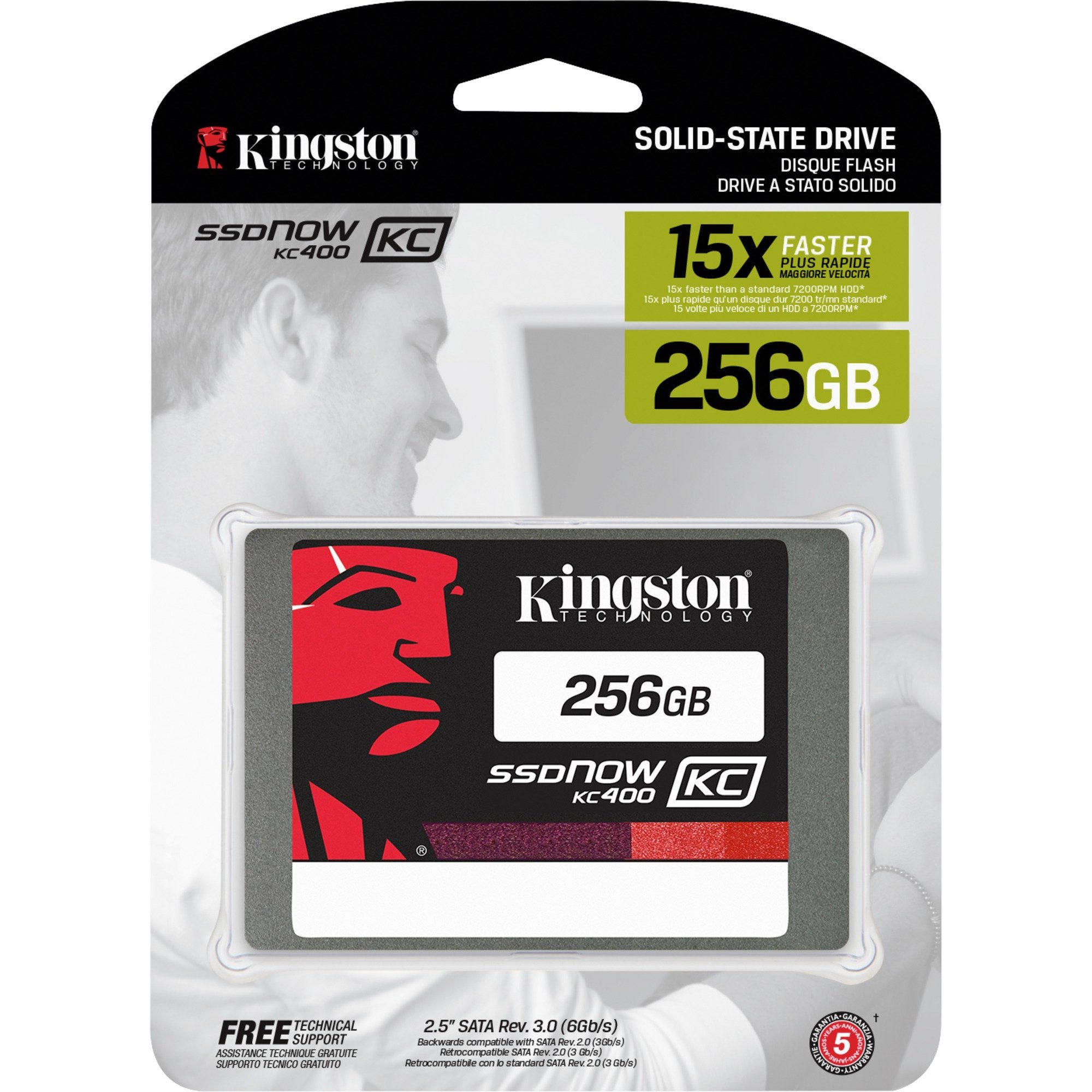 Kingston Solid State Drive »SKC400S37/256G 256 GB«