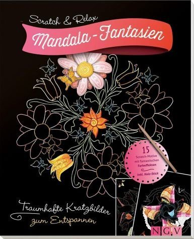 Broschiertes Buch »Scratch & Relax: Mandala-Fantasien«
