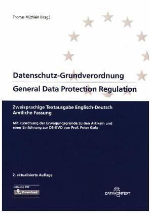 Broschiertes Buch »Datenschutz-Grundverordnung General Data...«