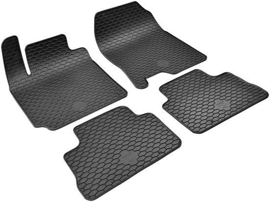 Walser Passform-Fußmatten (4 Stück), Hyundai Kona Geländewagen, für Hyundai Kona BJ 06/2017 - heute