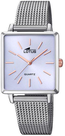 Lotus Quarzuhr »UL18718/3 LOTUS Damen Uhr Fashion 18718/3«, (Analoguhr), Damen Armbanduhr eckig, Edelstahlarmband silber