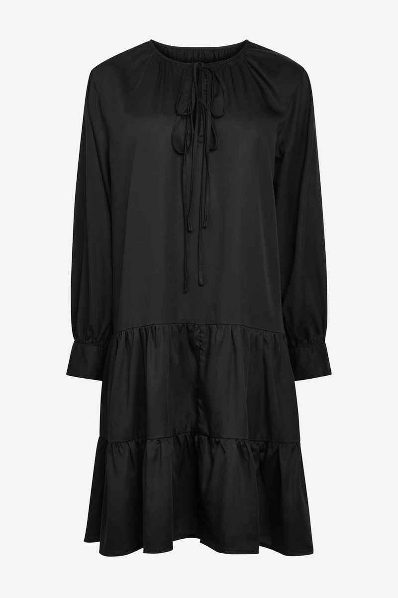 Next Jeanskleid »Gestuftes Kleid mit langen Ärmeln« (1-tlg)