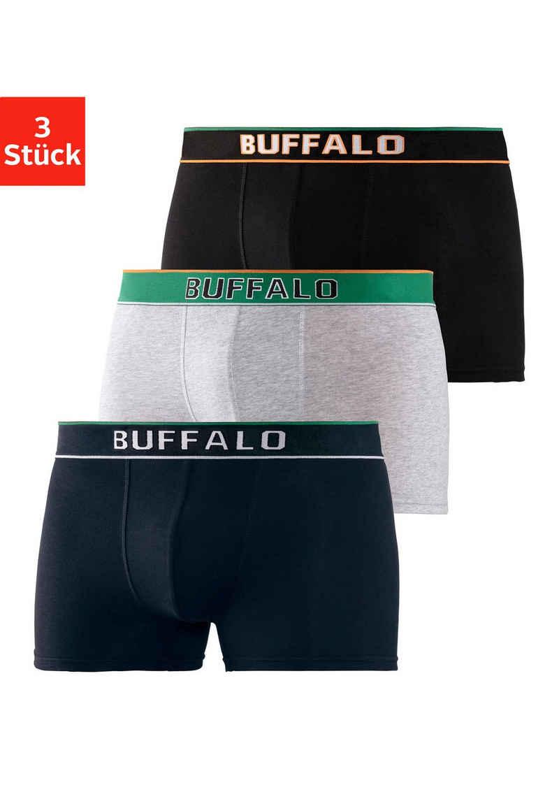 Buffalo Boxer (3 Stück) Webbund im College Design