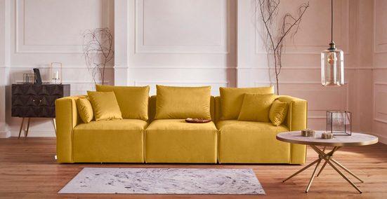 Guido Maria Kretschmer Home&Living 3-Sitzer »Marble«, zusammengesetzt aus Modulen, in 5 Bezugsqualitäten und vielen Farben möglich