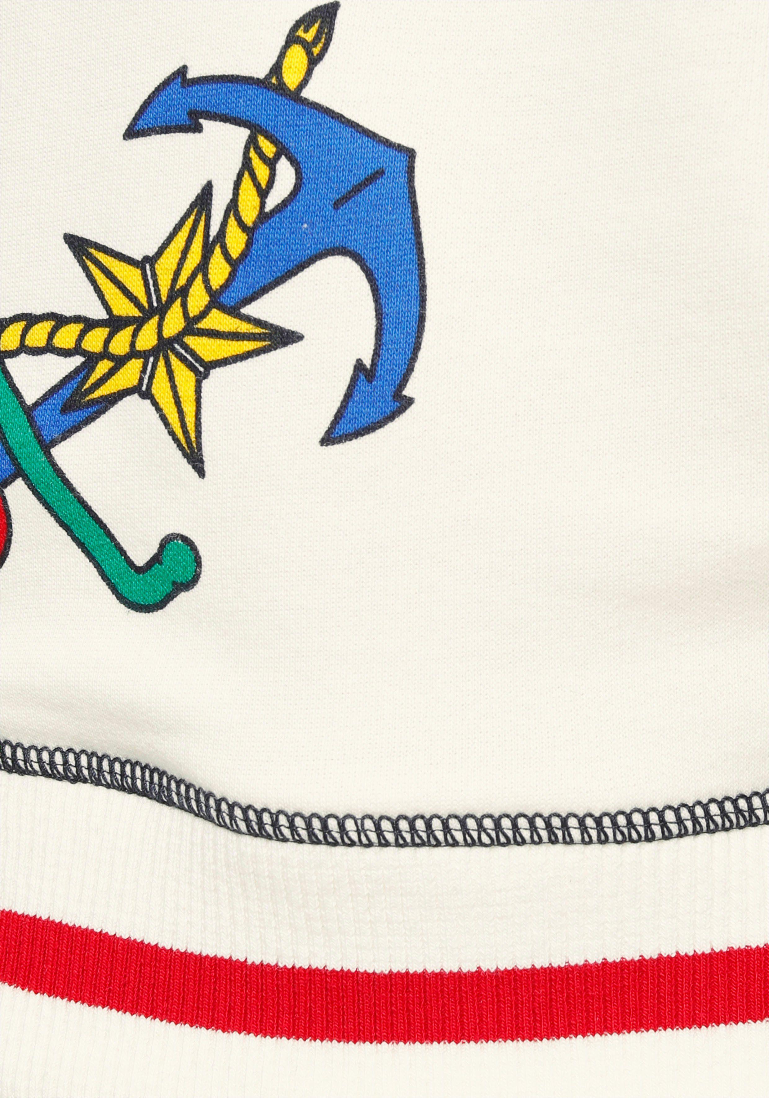 United Colors of Benetton Rundhalspullover mit buntem Ankerprint