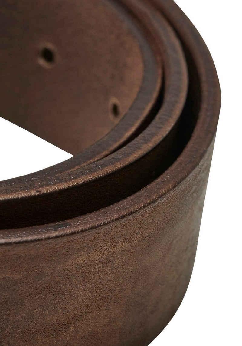 Jack & Jones Ledergürtel Vintage-Look, genarbte Oberfläche