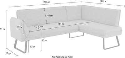 K+W Komfort & Wohnen Eckbank »Drive«, exklusive Eckbank mit Seitenteilverstellung am langem Schenkel zur Sitzplatzerweiterung