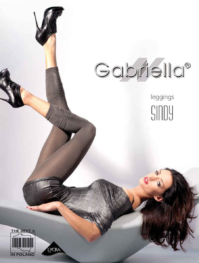 Gabriella Leggings »Sommerliche kurze Leggings SINDY« (1-tlg) Blickdicht, matt
