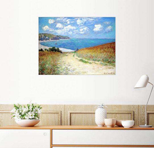 Posterlounge Wandbild, Strandweg durch den Weizen bei Pourville