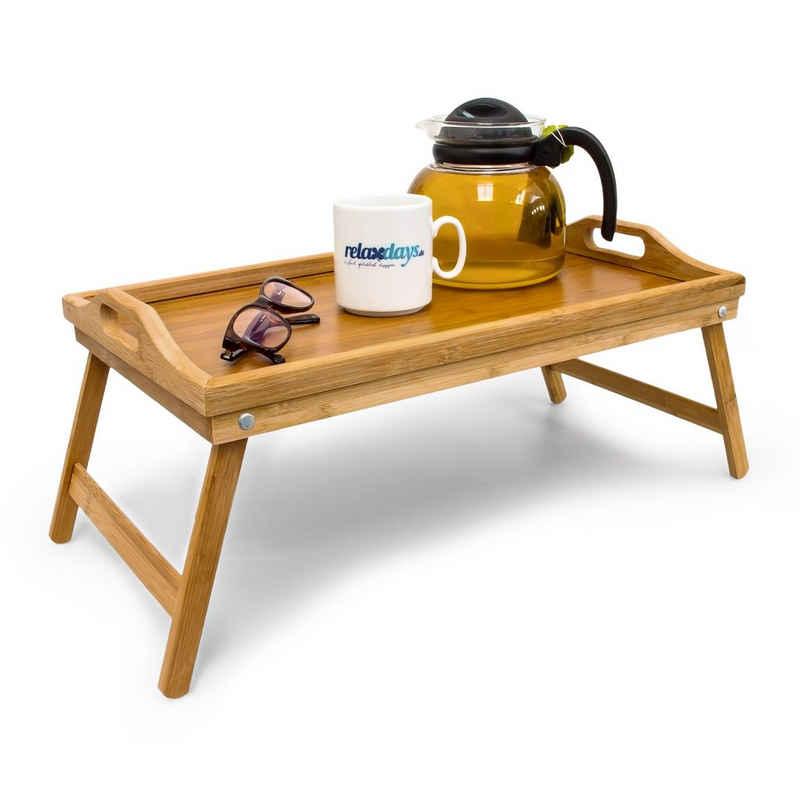 relaxdays Tabletttisch »Bambus Betttablett«