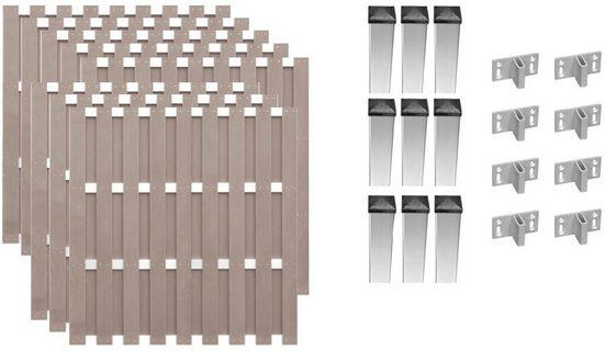 T&J Bohlenzaun »Jersey 6«, (Set), 8 Elemente, LxH: 1503x180 cm