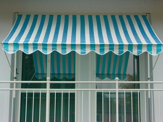 ANGERER FREIZEITMÖBEL Klemmmarkise blau/weiß, Ausfall: 150 cm, versch. Breiten | Garten > Sonnenschirme und Markisen > Markisen | Angerer Freizeitmöbel