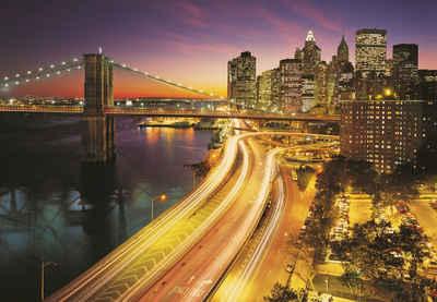 Komar Fototapete »NYC Lights«, glatt, bedruckt, Stadt, Kunst, (Set), ausgezeichnet lichtbeständig
