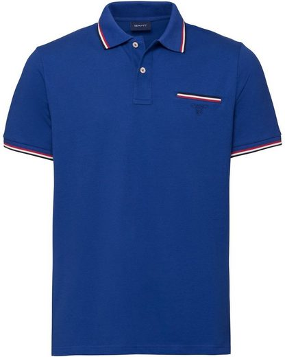 Gant Poloshirt »Piqué-Polo mit Kontraststreifen«
