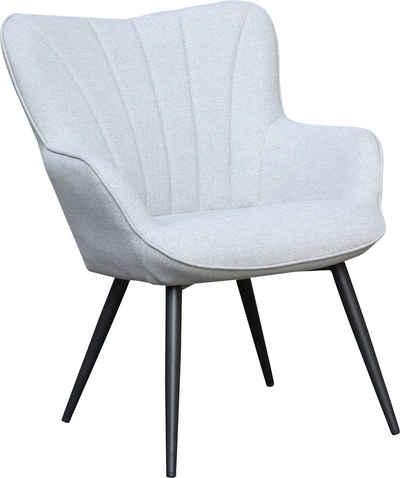 Homexperts Sessel »LEXI« (1-St), Sessel mit Ziernaht im Rücken