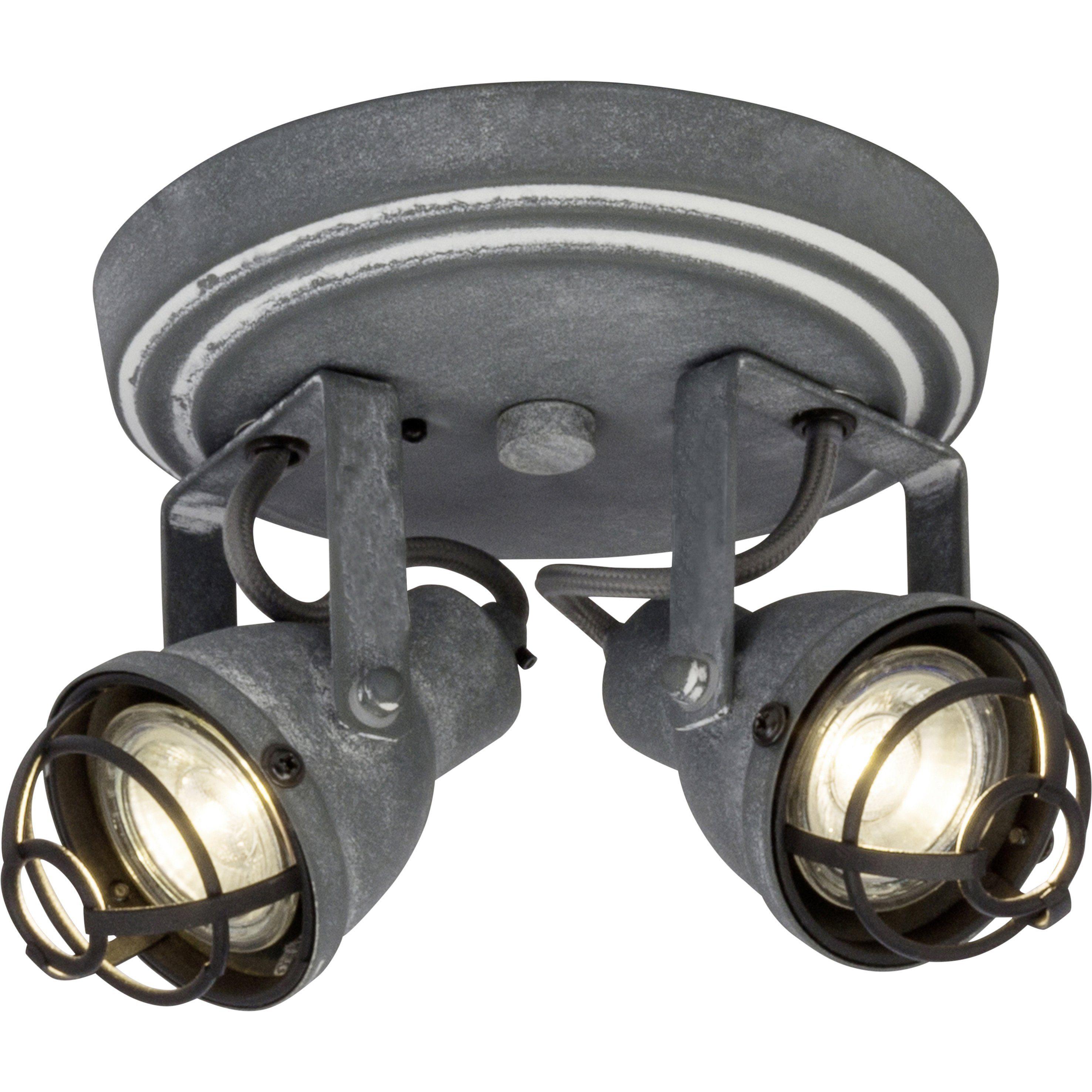 Brilliant Leuchten Bente LED Spotrondell 2flg grau Beton