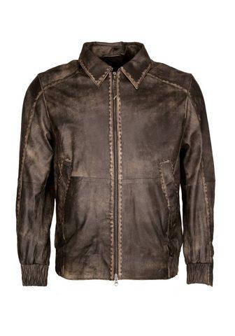 Куртка кожаная в в винтажном стиле &ra...