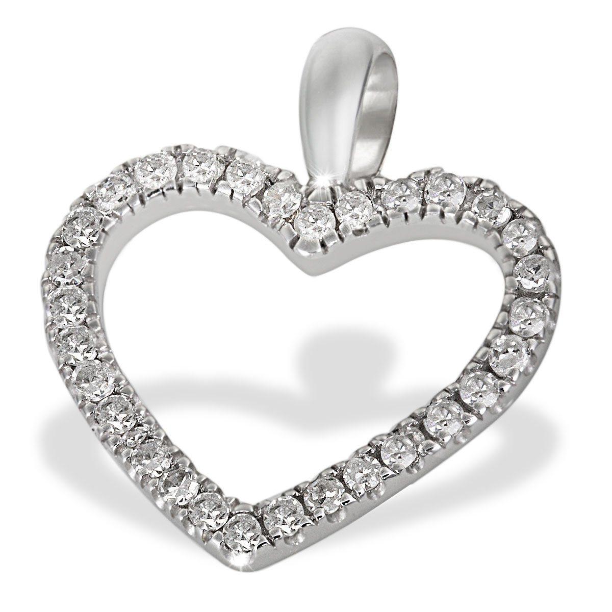 goldmaid Anhänger Herz 585/- Weißgold 30 Diamanten 0,16 ct. | Schmuck > Halsketten > Herzketten | Weißgold | goldmaid