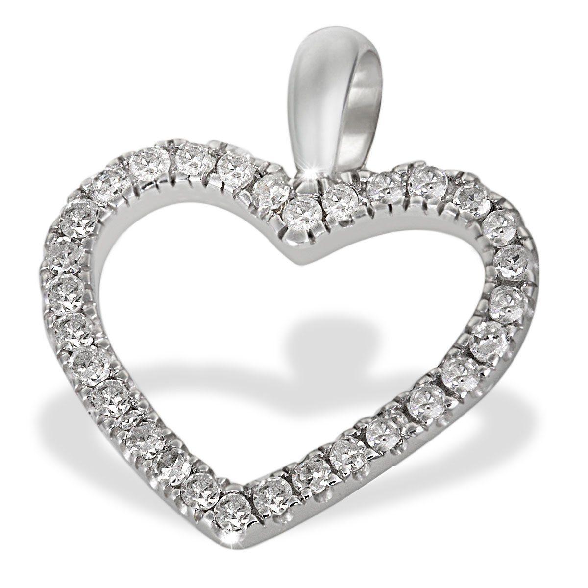 goldmaid Anhänger Herz 585/- Weißgold 30 Diamanten 0,16 ct.