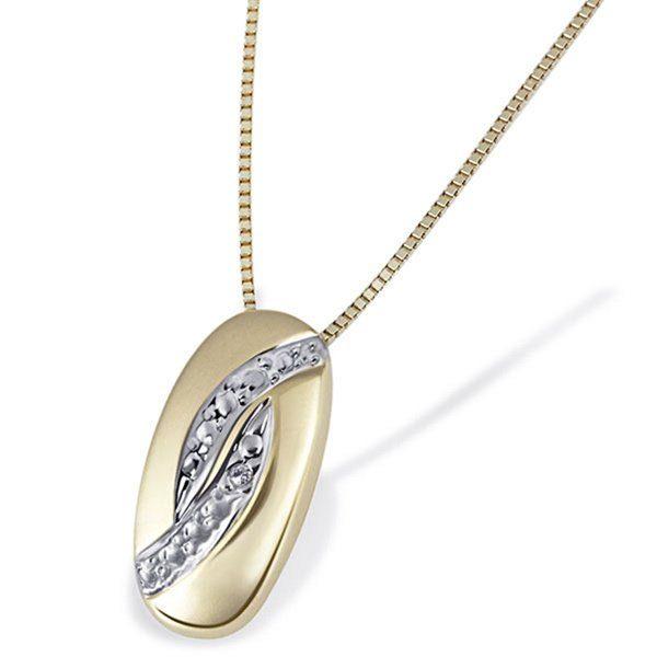goldmaid Collier Bicolor 375/- Gelbgold 1 Diamant 0,01 ct.