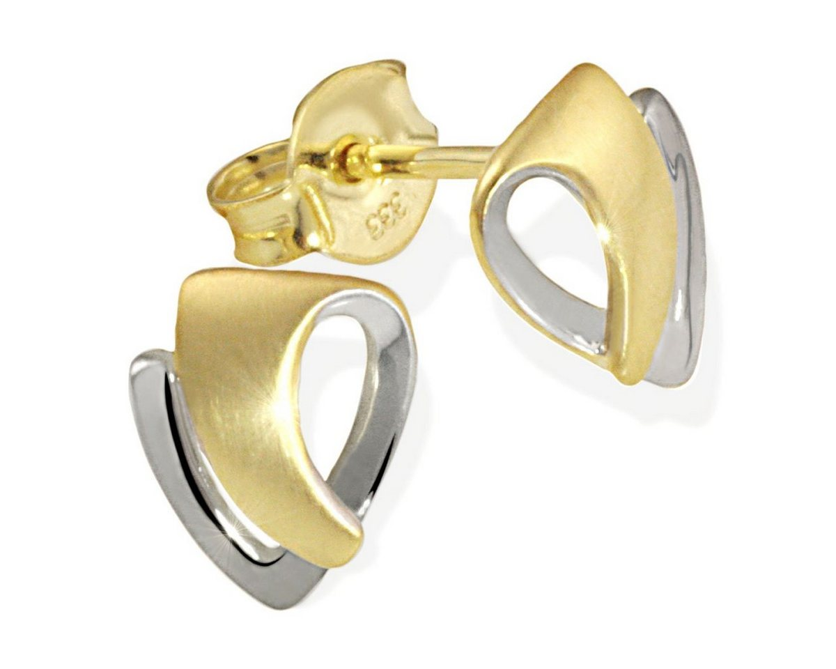 goldmaid Paar Ohrstecker Gold 333/- Bicolor matt und hochglanzpoliert   Schmuck > Ohrschmuck & Ohrringe > Ohrstecker   Goldfarben   goldmaid