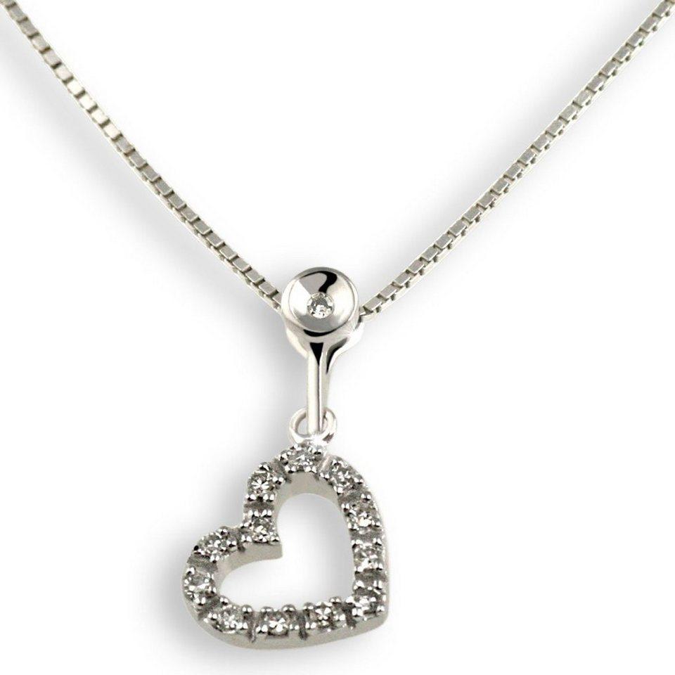 goldmaid collier wei gold 375 herz diamanten otto. Black Bedroom Furniture Sets. Home Design Ideas