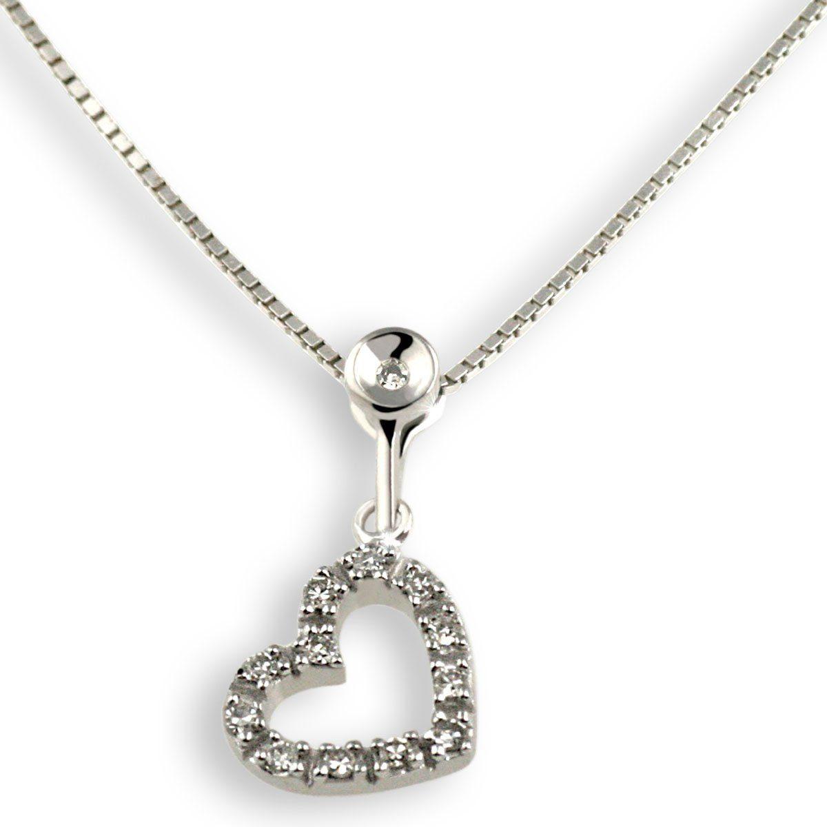 goldmaid Collier Weißgold 375 Herz Diamanten