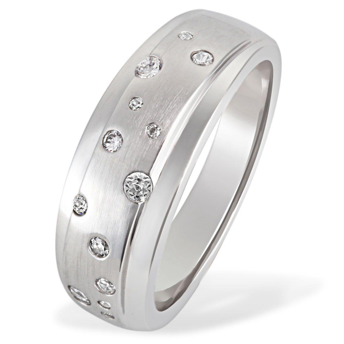 Averdin Damenring 925/- Silber 13 Zirkonia Sternenhimmel jetztbilligerkaufen