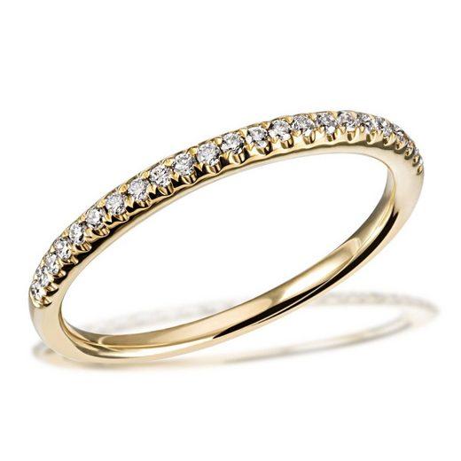 goldmaid Damenring Memoire 585/- Gelbgold 23 Brillanten 0,16 ct. SI/H