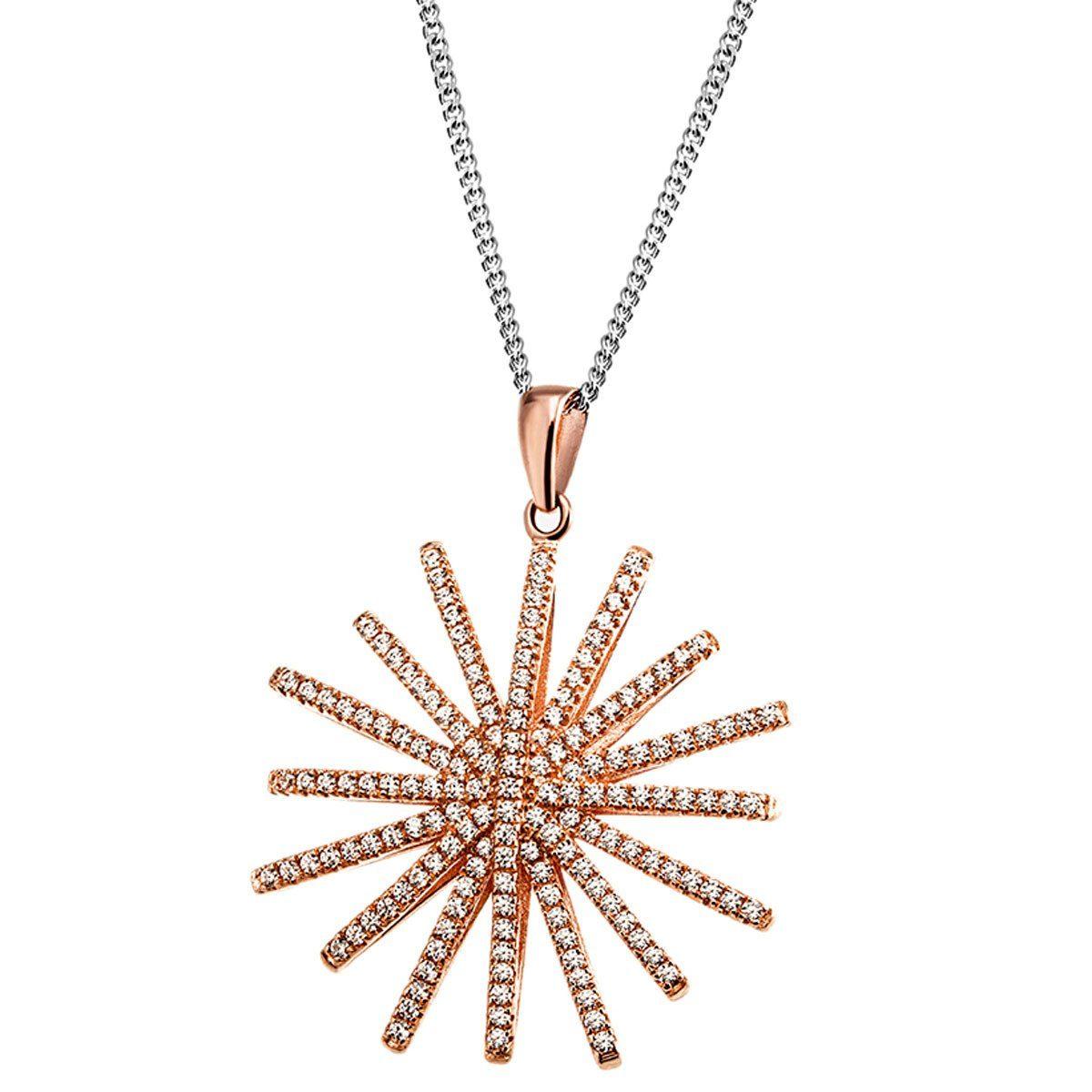 goldmaid Collier Star 925/- Sterlingsilber 163 Zirkonia