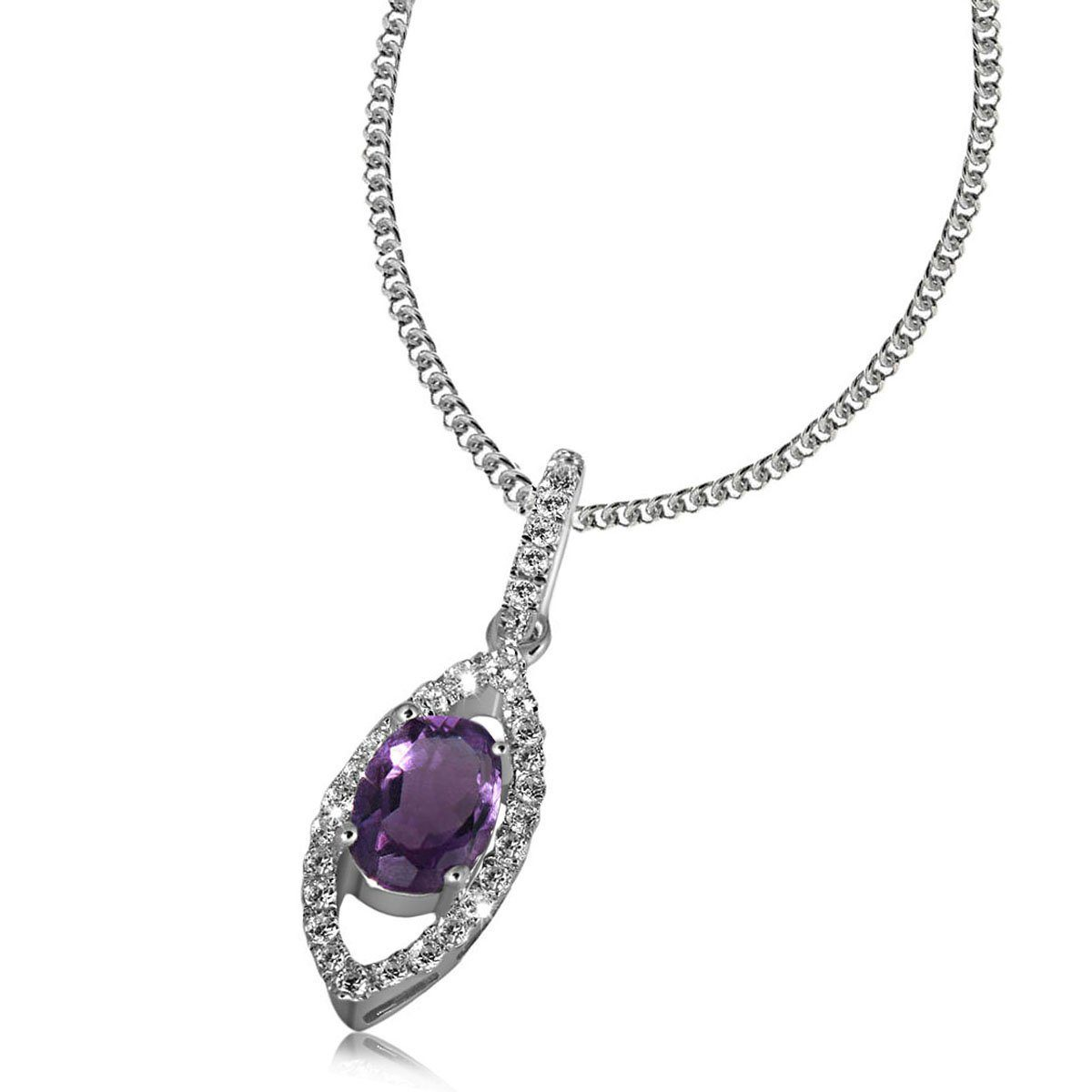 goldmaid Collier Silber 925/- Amethyst Zirkonia PremiumShine