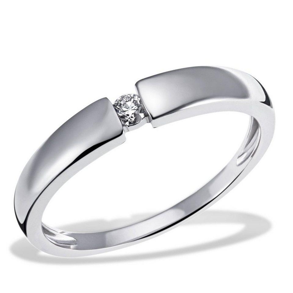 Weißgold ring verlobung  goldmaid Damenring Solitär 585/- Weißgold 1 Dia. 0,10 ct. online ...