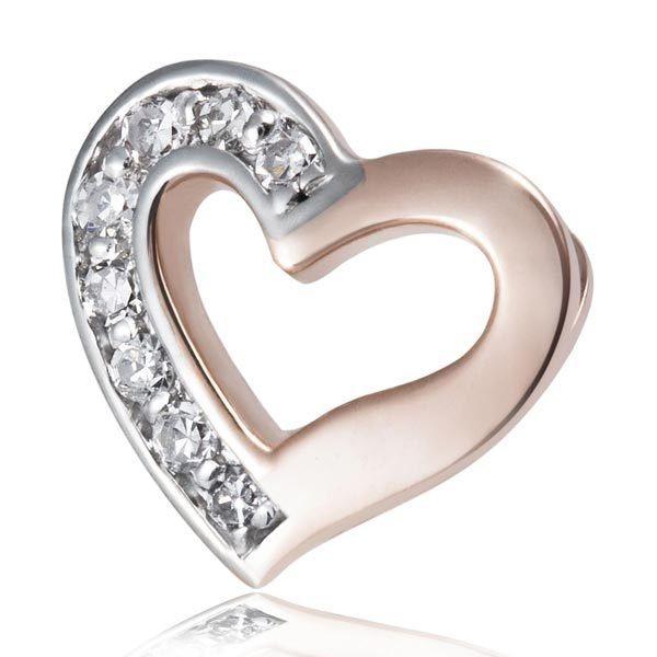 goldmaid Anhänger Herz 375/- Rotgold 8 Diamanten SI/H | Schmuck > Halsketten > Herzketten | Weiß | Si | goldmaid