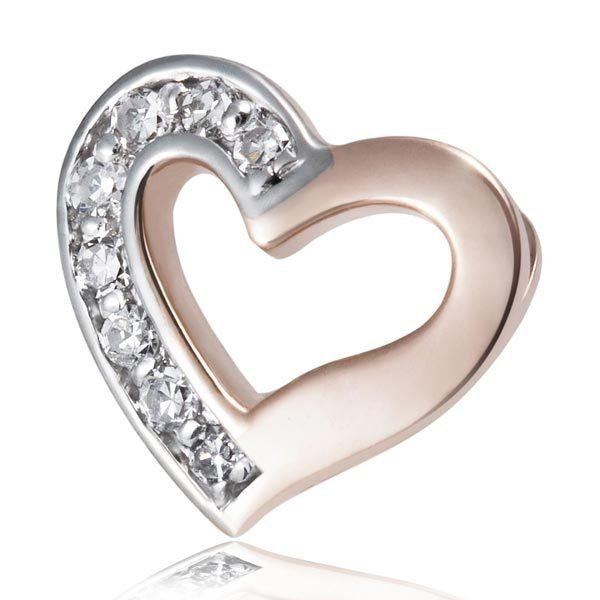 goldmaid Anhänger Herz 375/- Rotgold 8 Diamanten SI/H